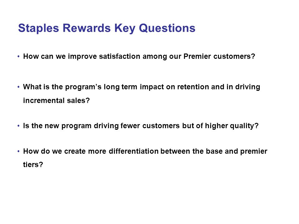 Staples Rewards Key Questions