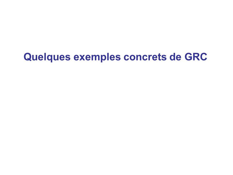 Quelques exemples concrets de GRC