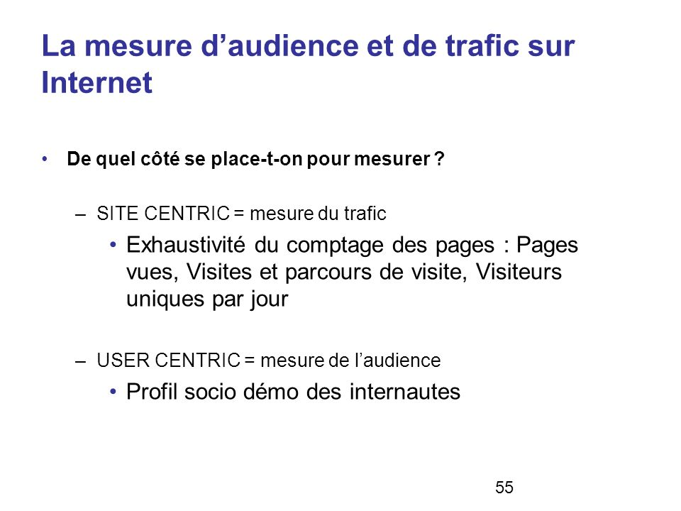 La mesure d'audience et de trafic sur Internet