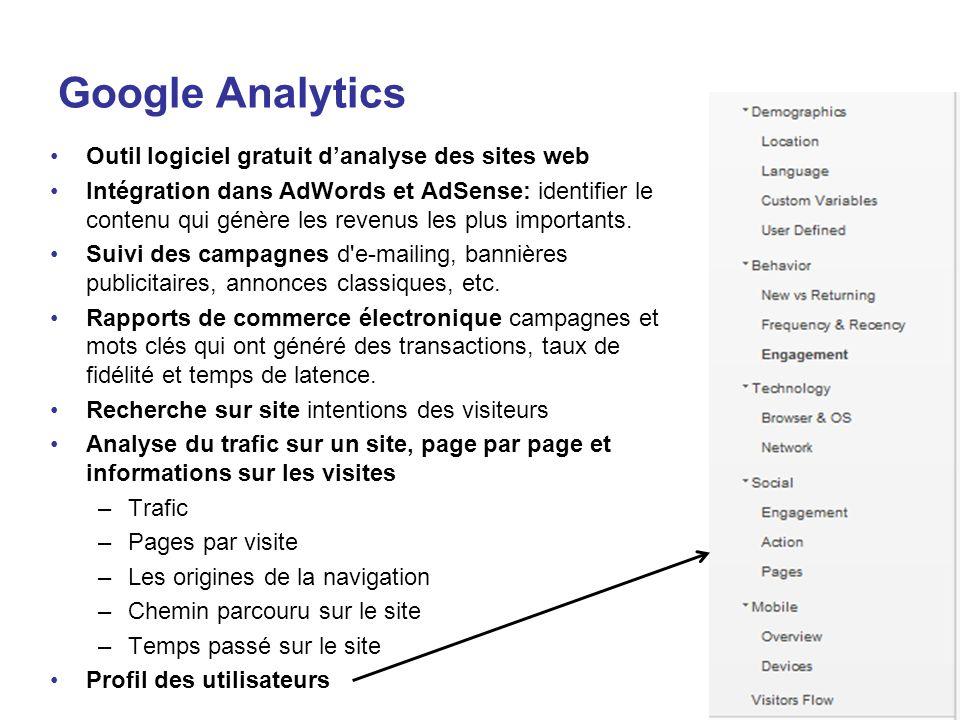 Google Analytics Outil logiciel gratuit d'analyse des sites web