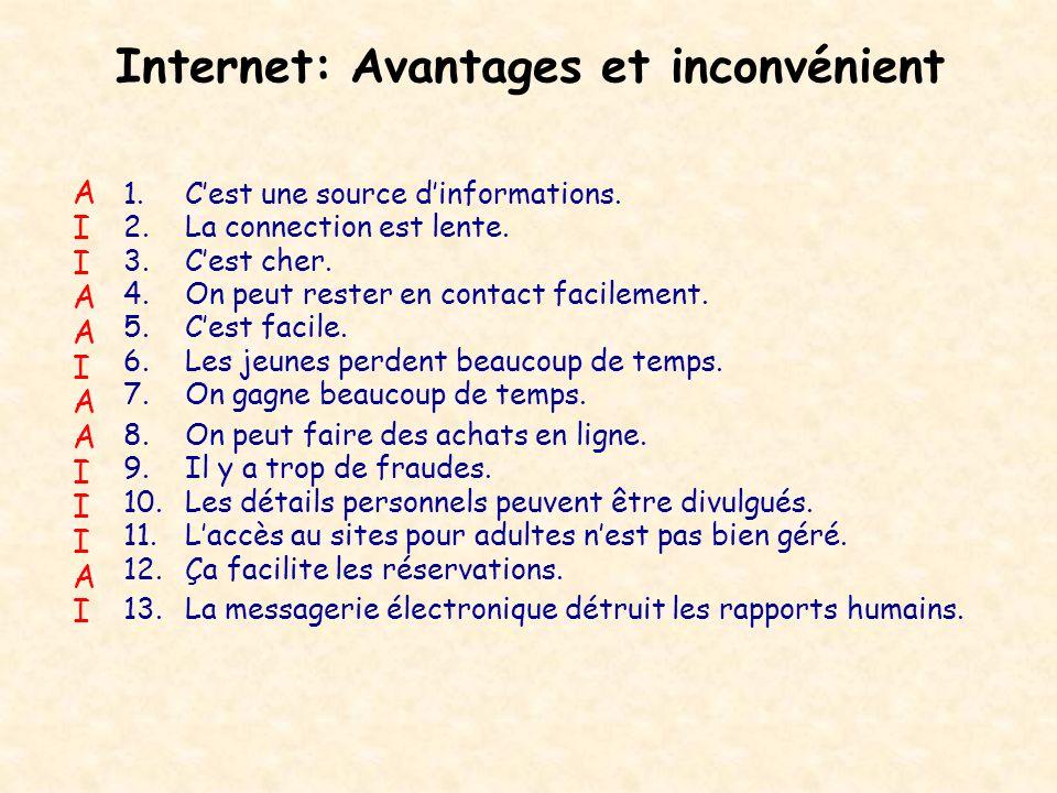Internet: Avantages et inconvénient