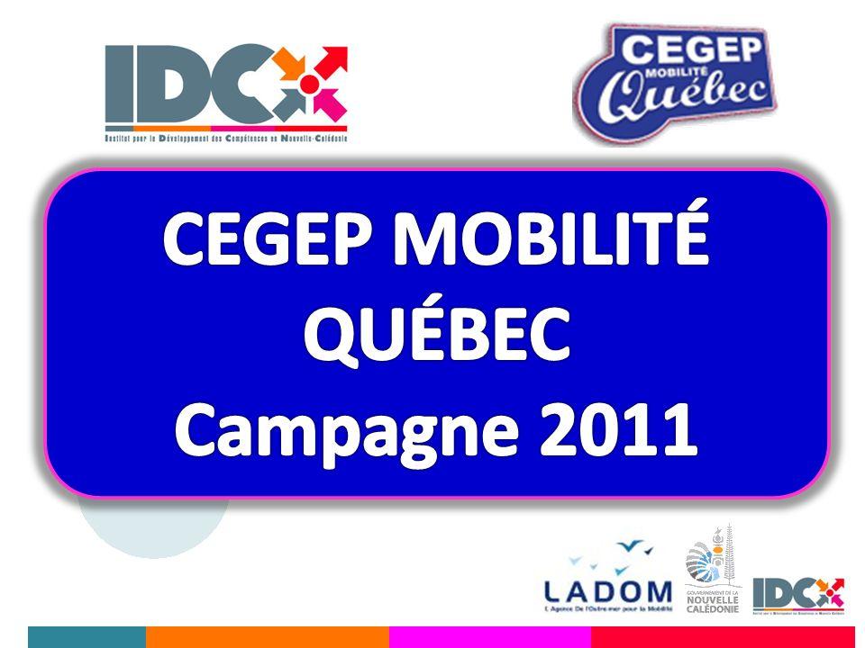 CEGEP MOBILITÉ QUÉBEC Campagne 2011