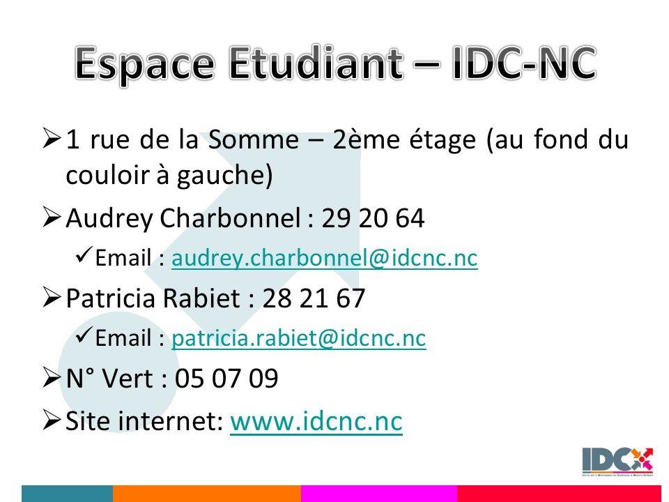 Espace Etudiant – IDC-NC