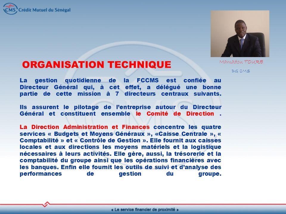 ORGANISATION TECHNIQUE
