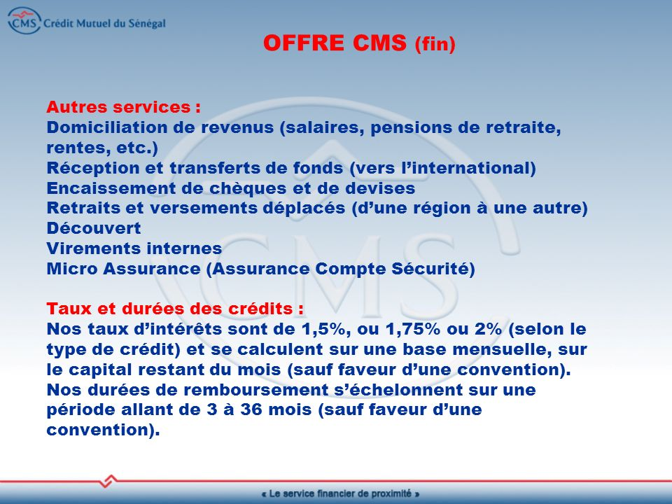 OFFRE CMS (fin)
