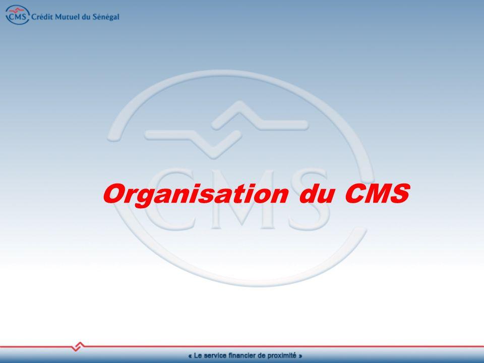 Organisation du CMS