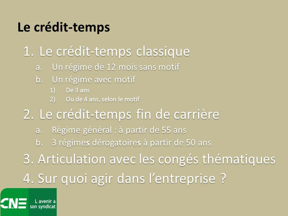 Le crédit-temps classique