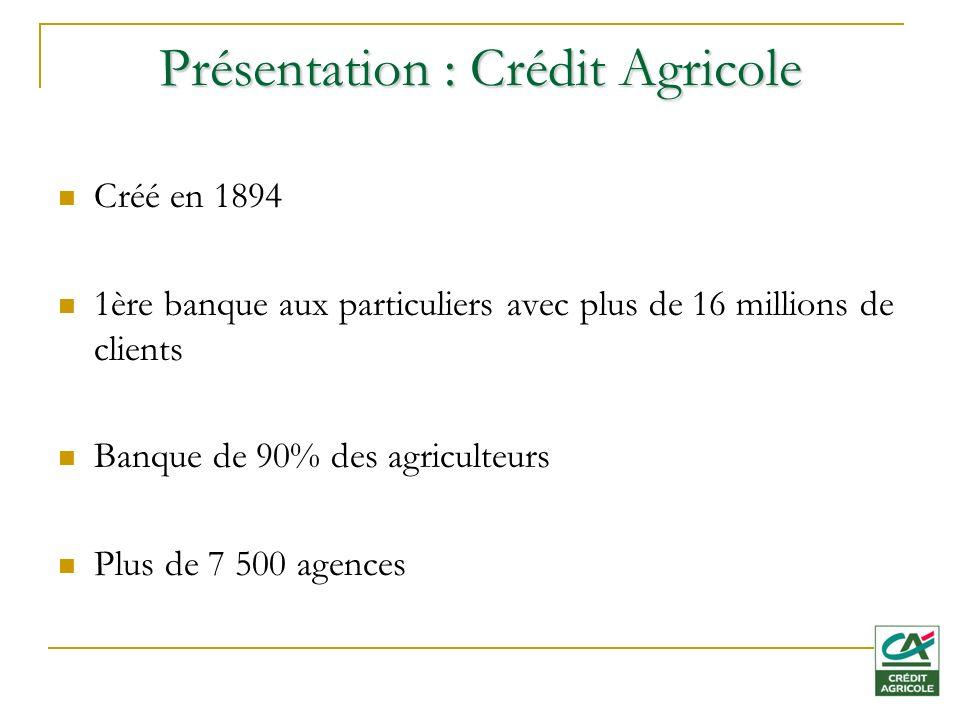 Présentation : Crédit Agricole