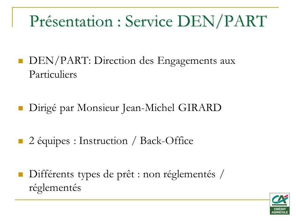 Présentation : Service DEN/PART