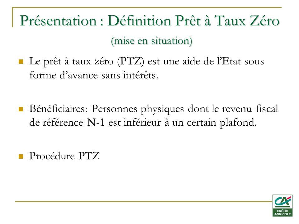 Présentation : Définition Prêt à Taux Zéro (mise en situation)