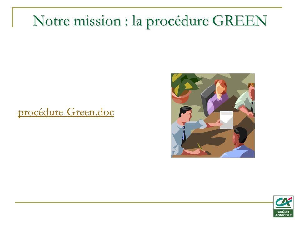 Notre mission : la procédure GREEN