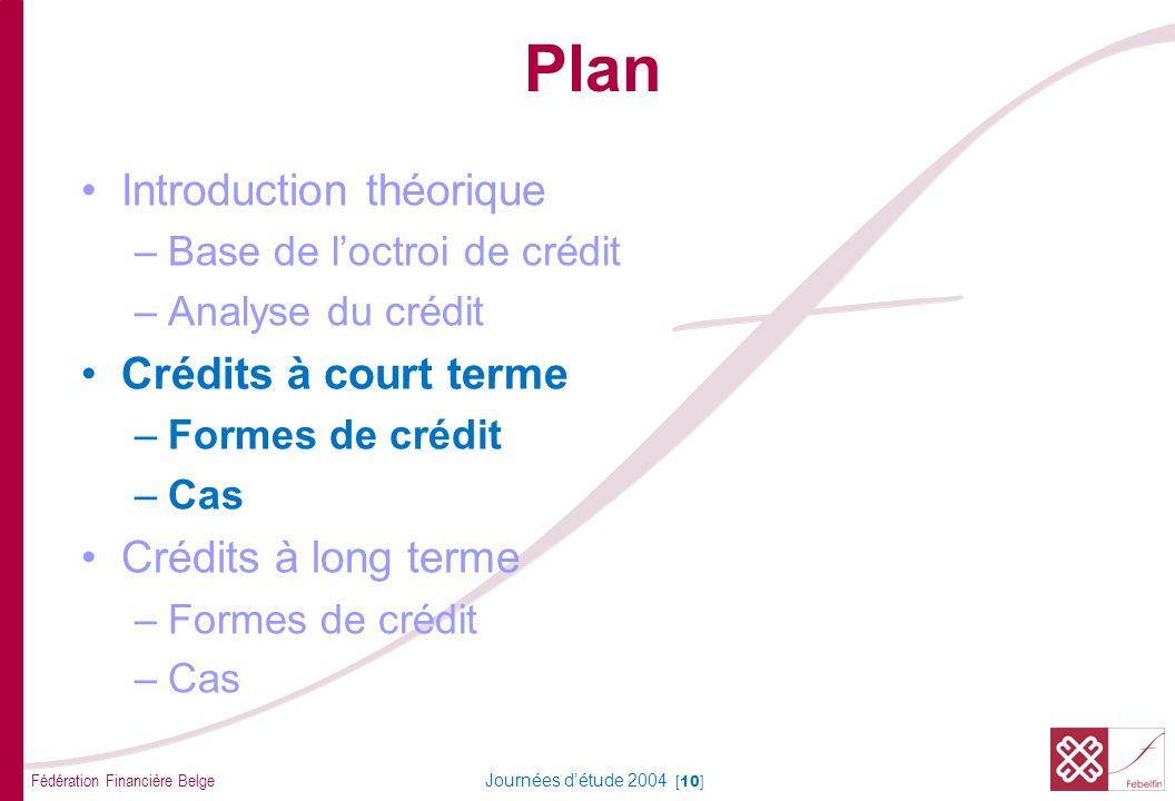 Formes de crédit CT Crédit de caisse
