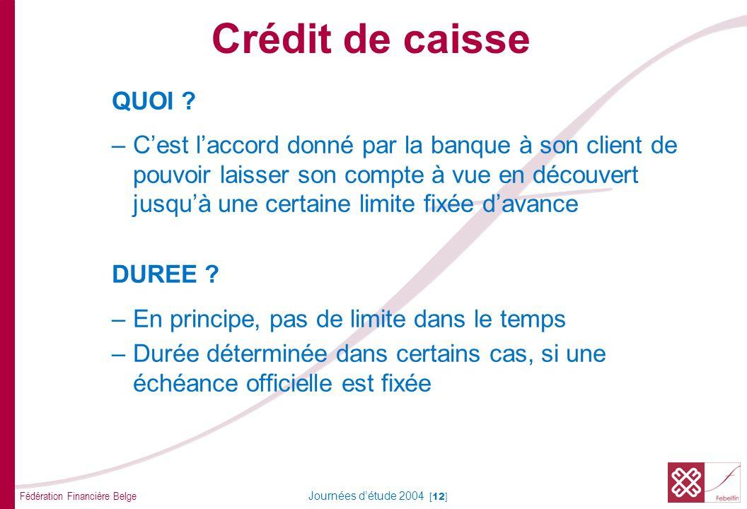 Crédit de caisse OBJECTIF