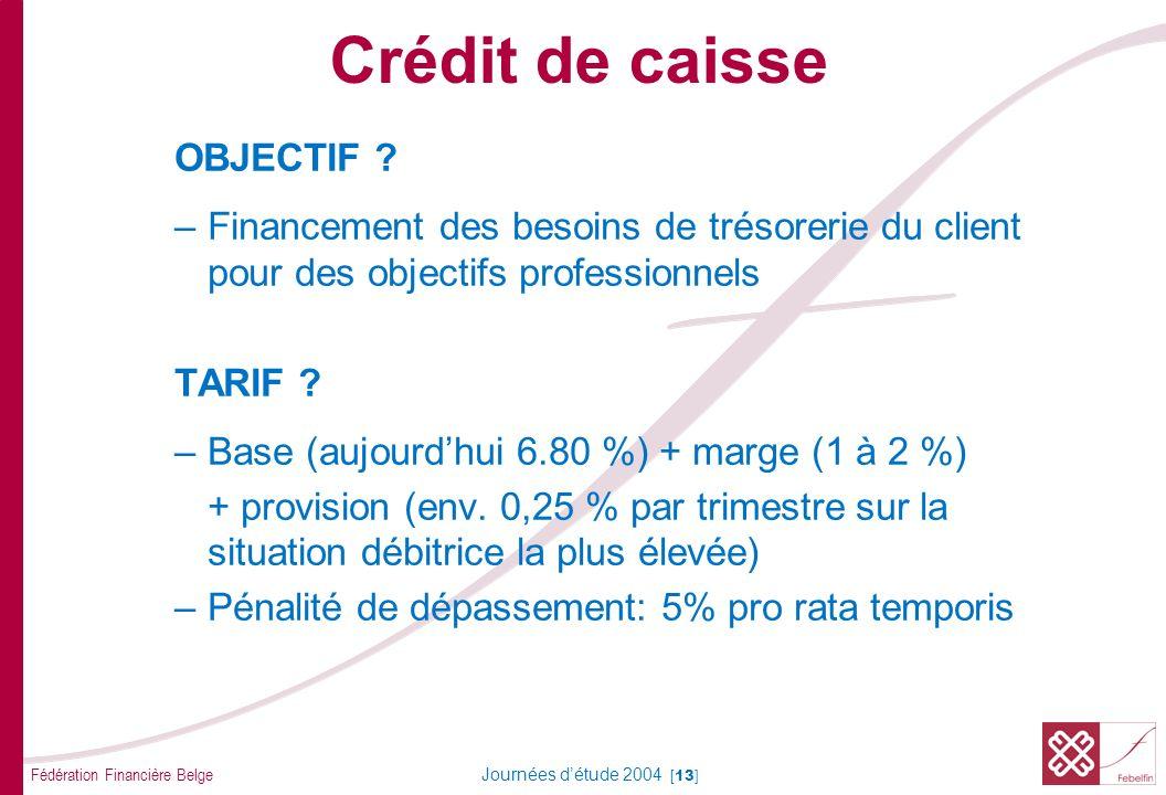 Crédit de caisse RISQUE Risque de 1er rang