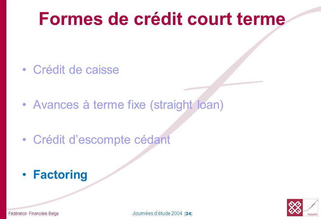 Factoring Problèmes possibles Services factoring pour le client : comme solution: • Suivi des factures • Administration des débiteurs.