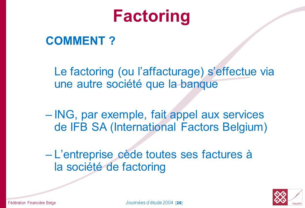 Factoring SERVICES D'AFFACTURAGE AMINISTRATION DES DEBITEURS :