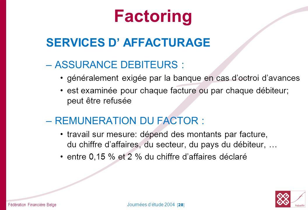 Factoring CHACUN N'ENTRE PAS EN LIGNE DE COMPTE POUR LE FACTORING