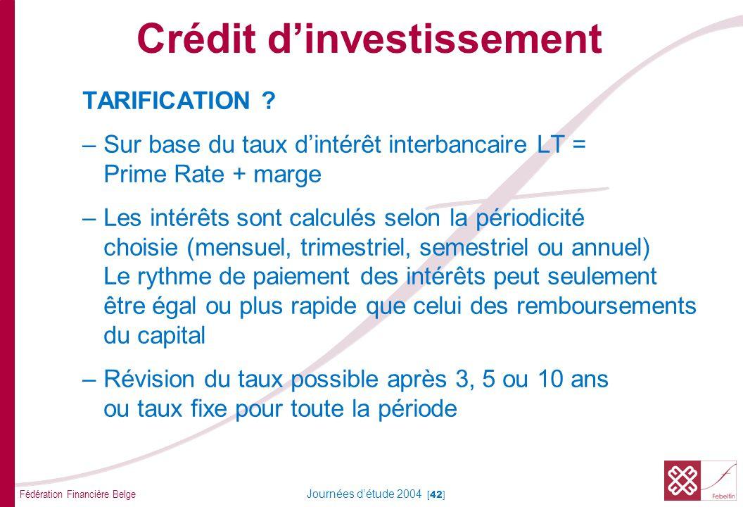 Crédit d'investissement