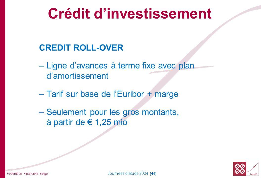 Formes de crédit long terme