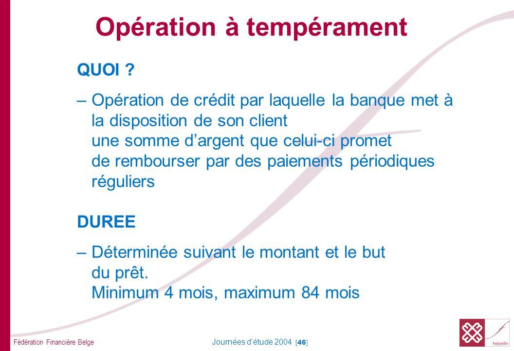 Opération à tempérament