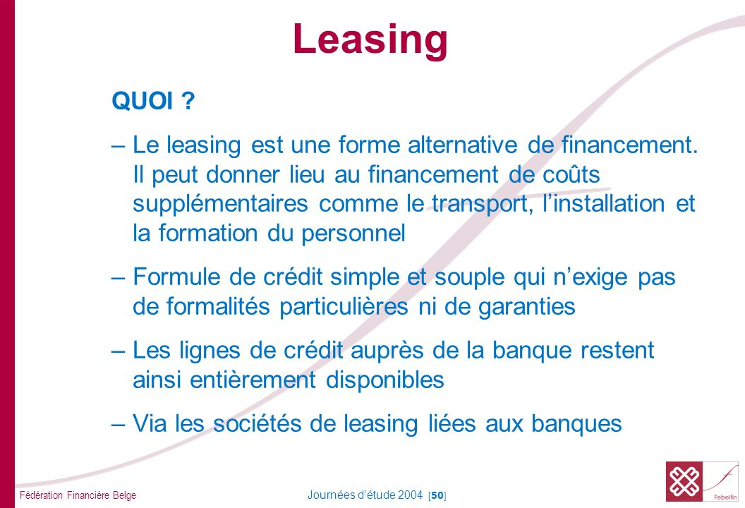 Leasing SORTES - LEASING FINANCIER