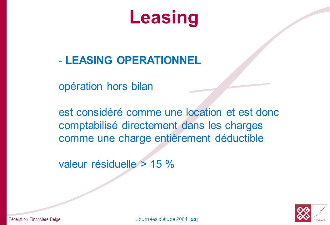 Leasing AVANTAGES DU LEASING par rapport au CREDIT D'INVESTISSEMENT ou au FINANCEMENT à TEMPERAMENT.