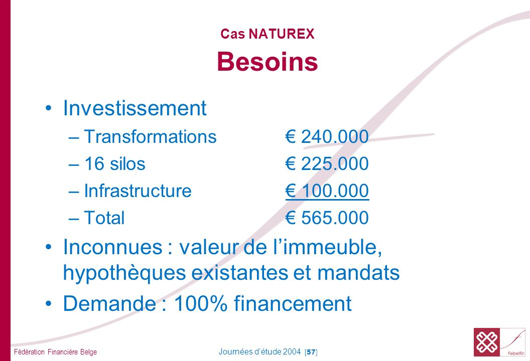 Cas NATUREX Proposition