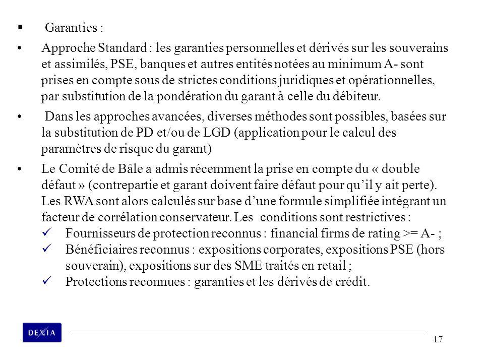 Garanties :