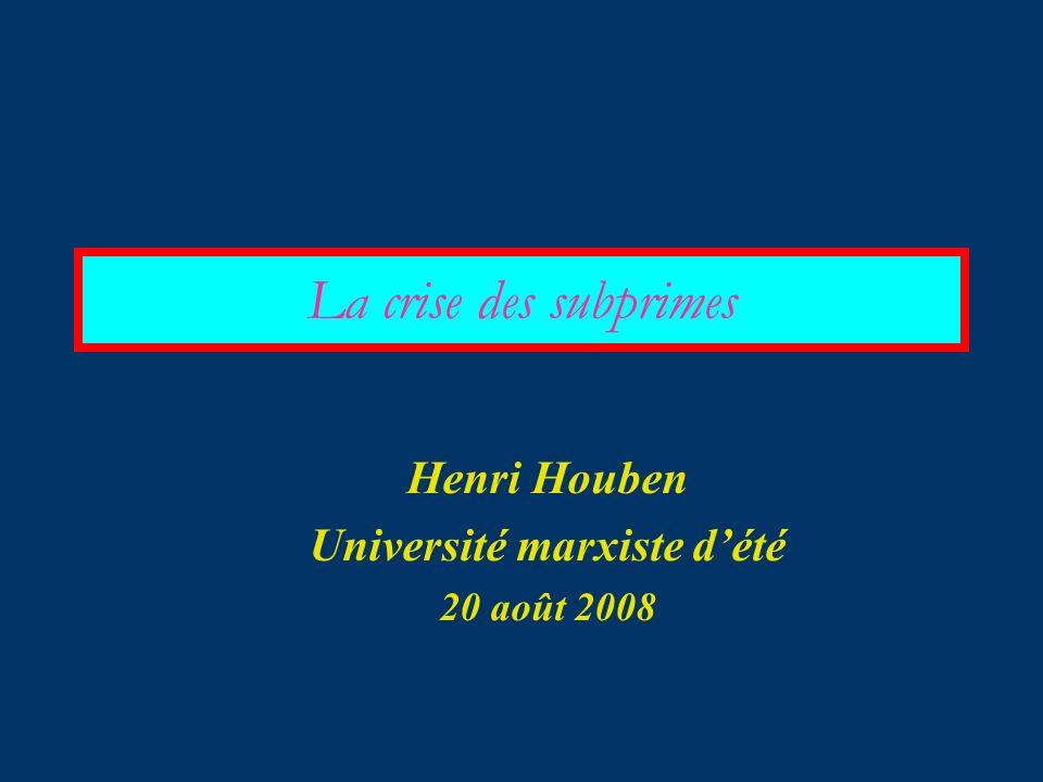 Henri Houben Université marxiste d'été 20 août 2008