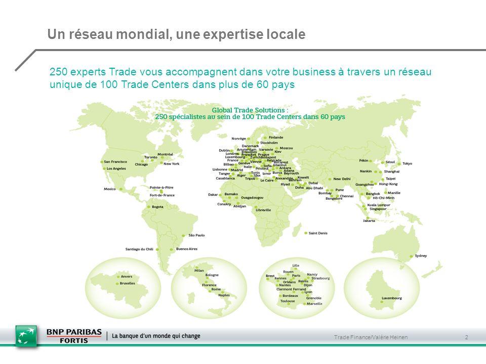 Un réseau mondial, une expertise locale