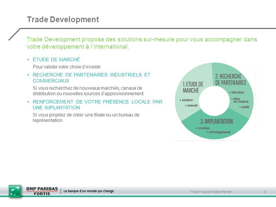 Trade Development Trade Development propose des solutions sur-mesure pour vous accompagner dans votre développement à l'international.
