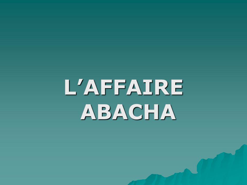 L'AFFAIRE ABACHA
