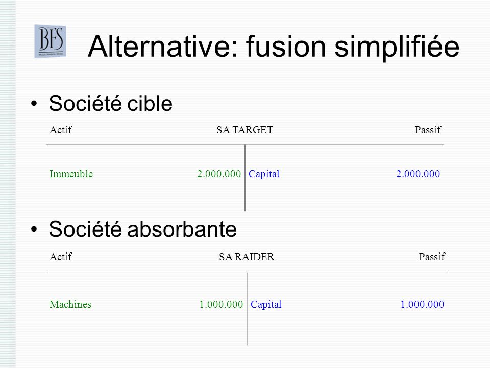 Alternative: fusion simplifiée