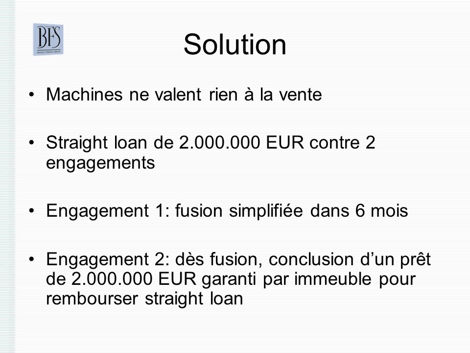 Solution Machines ne valent rien à la vente