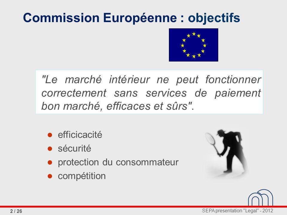 Commission Européenne : objectifs