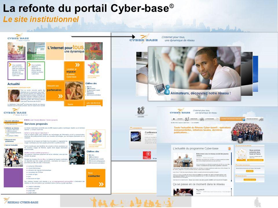 La refonte du portail Cyber-base® Le site institutionnel