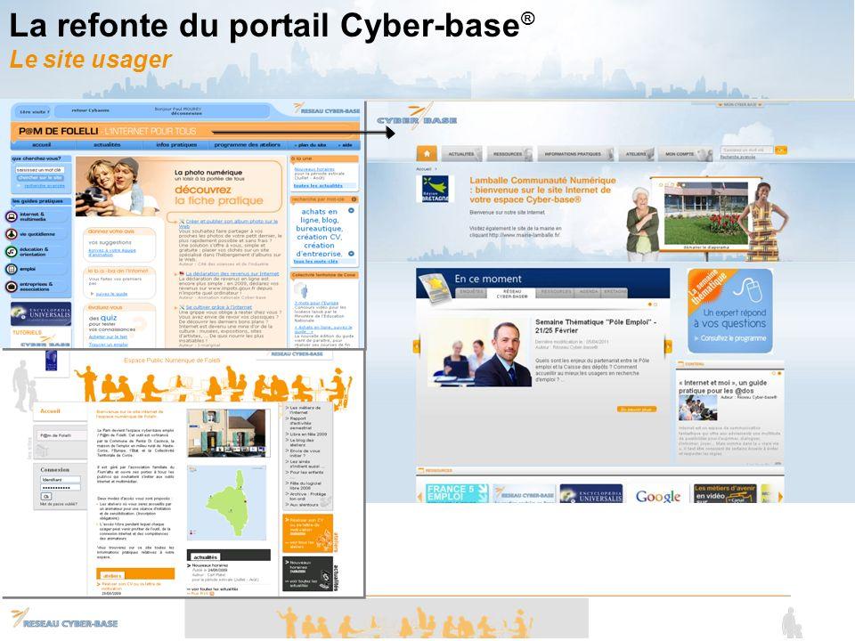La refonte du portail Cyber-base® Le site usager
