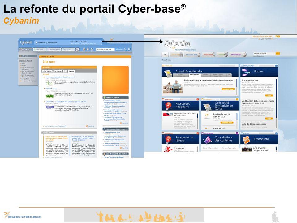 La refonte du portail Cyber-base® Cybanim