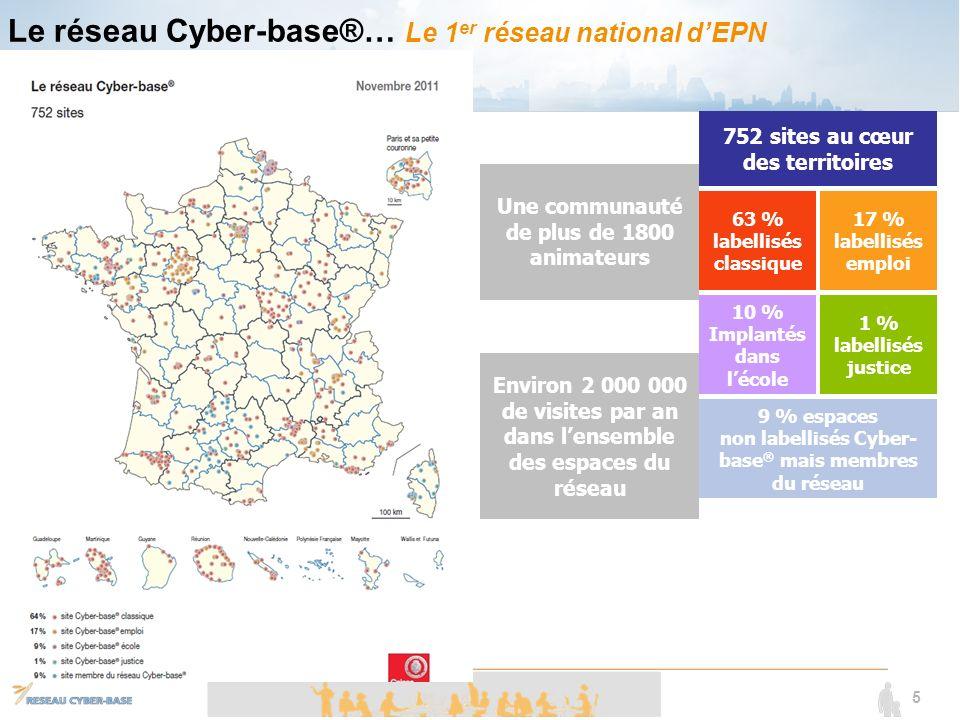 Le réseau Cyber-base®… Le 1er réseau national d'EPN