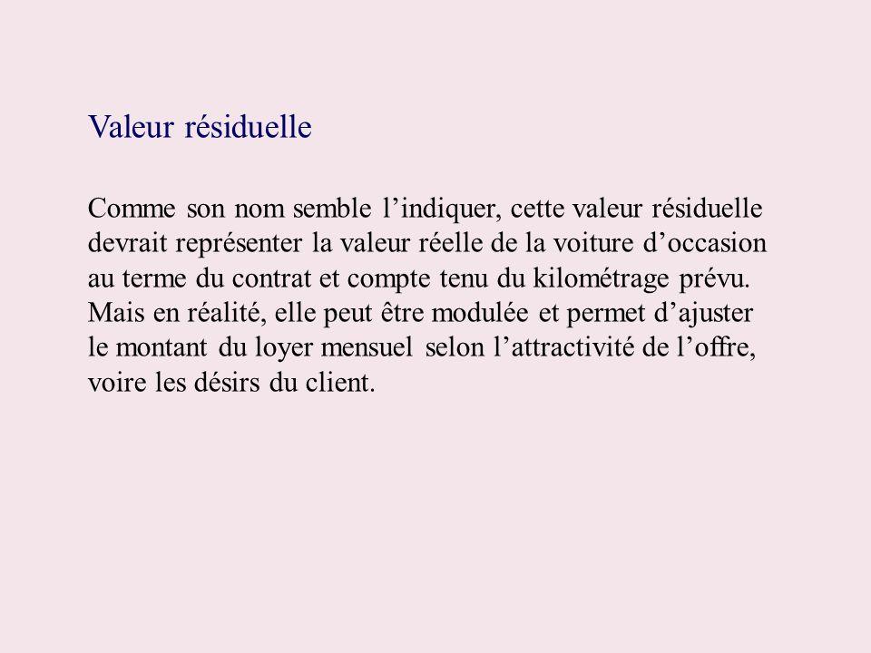 Valeur résiduelle