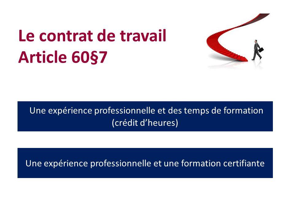 Le contrat de travail Article 60§7