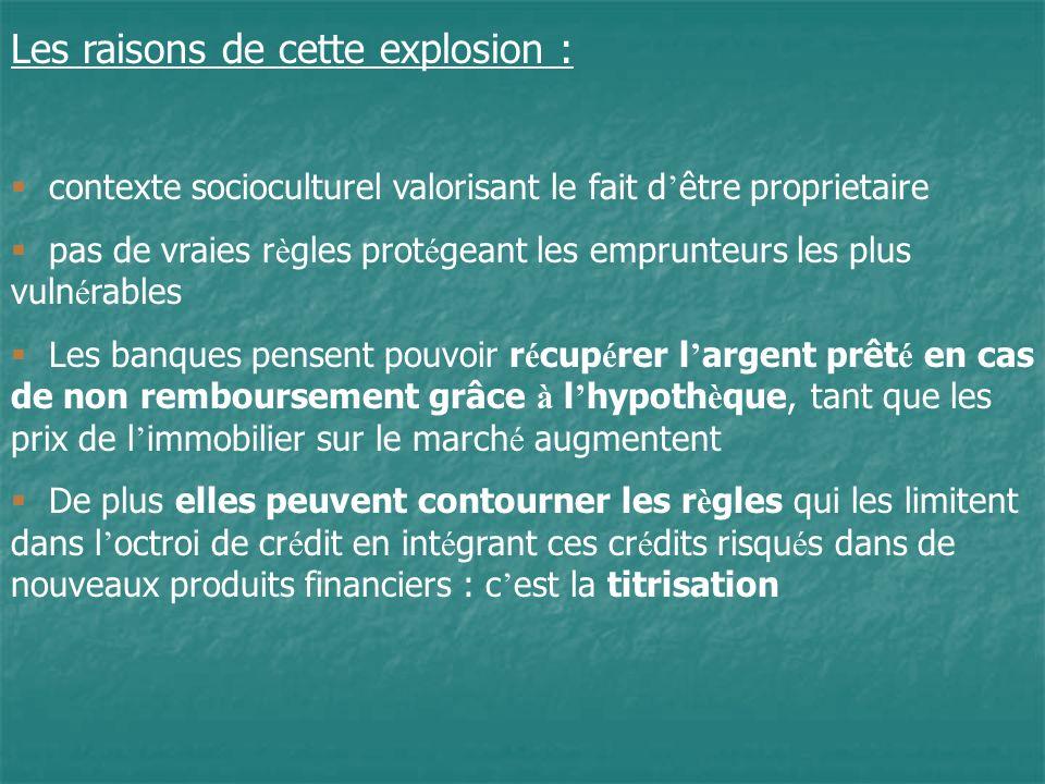 Les raisons de cette explosion :