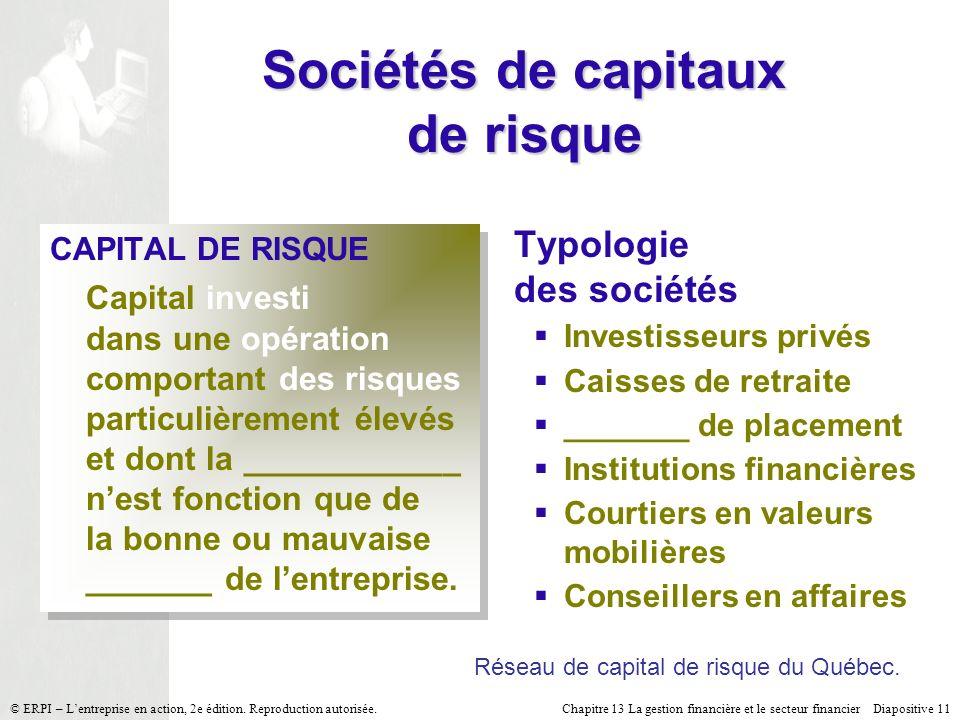 Sociétés de capitaux de risque