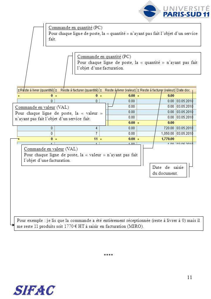 SIFAC 30/03/2017 Commande en quantité (PC)