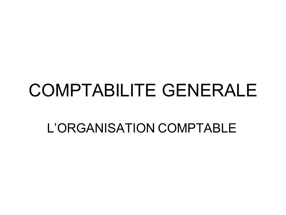 COMPTABILITE GENERALE