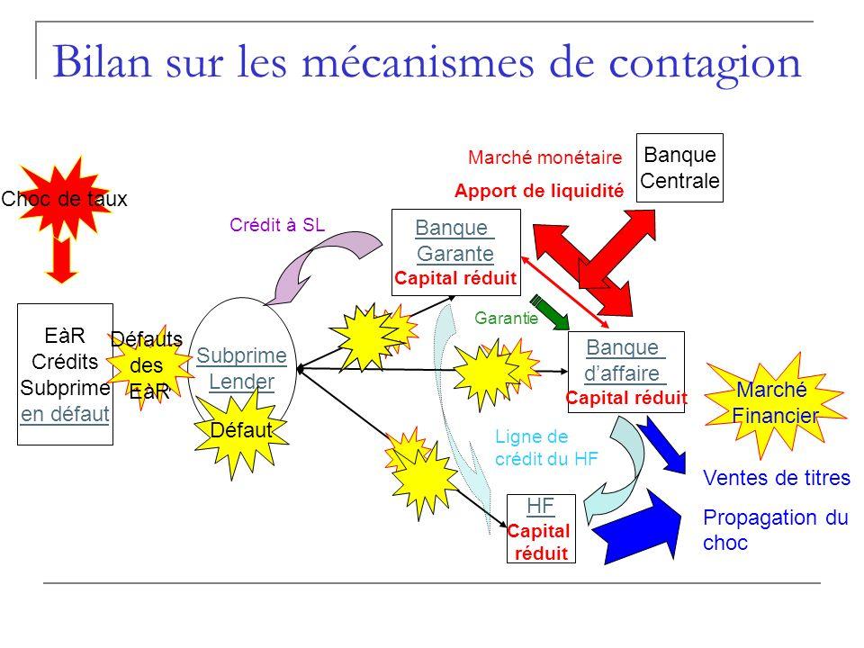 Bilan sur les mécanismes de contagion