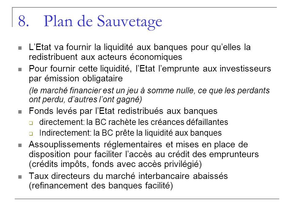 Plan de Sauvetage L'Etat va fournir la liquidité aux banques pour qu'elles la redistribuent aux acteurs économiques.