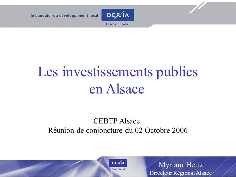 Les investissements publics en Alsace