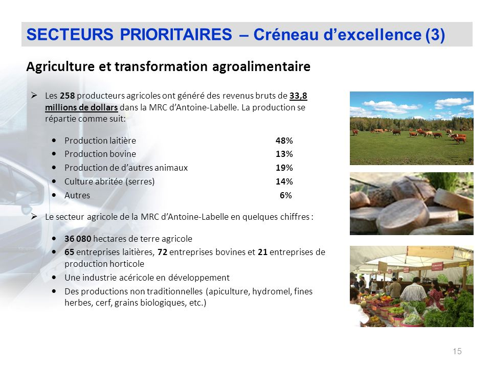 Agriculture et transformation agroalimentaire