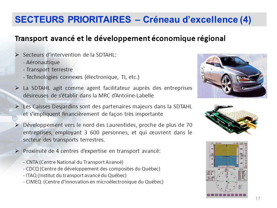 Transport avancé et le développement économique régional